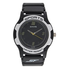 SF by Sonata Black Dial Analog Watch for Men
