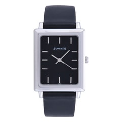 Sonata Black Dial Analog Watch For Men-NF778SL4