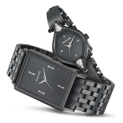 Sonata Black Dial Analog Watch For Pair