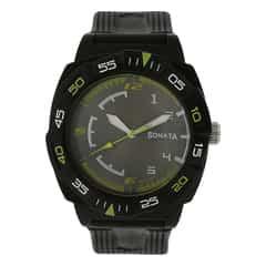 Sonata Black Dial Analog Watch For Men