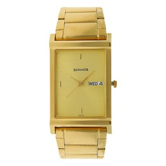 Sonata Champagne Dial Analog Watches for Men