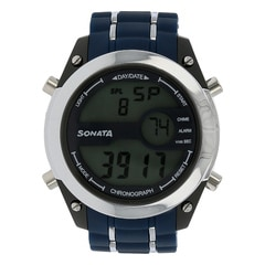 SF by Sonata Grey And Blue Dial DigitalWatch for Men - NH77034PP03