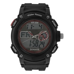SF by Sonata Red Dial DigitalWatch for Men