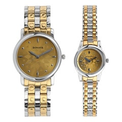 Sonata Metal Strap watch for Pair