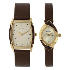 Sonata Champagne Analog Watch for Couples