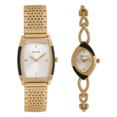 Sonata Wedding Champagne Analog Watch for Couples