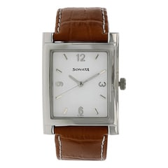 Sonata White Dial Analog Watch for Men