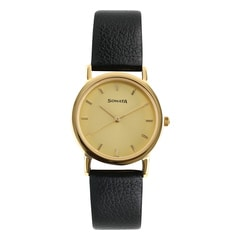Sonata Champagne Dial Analog Watch for Men