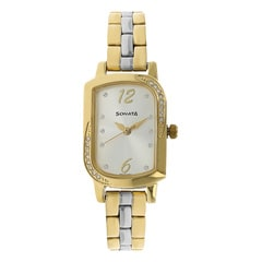 Sonata Silver White Dial Analog Watch for Women