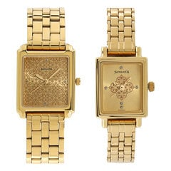 Sonata Champagne Dial Analog Watch for Couples