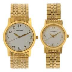Sonata Silver Dial Analog Pair Watches