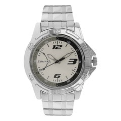 Sonata White dial Analog Watch for Men