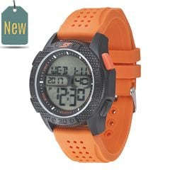SF Carbon II Series Orange Strap Unisex Digital Watch