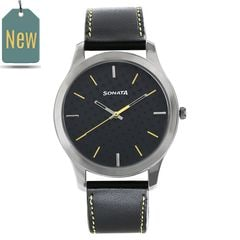 Sonata Nxt BLACK Dial Analog Watch for Men
