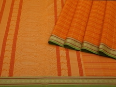 Handloom Yellow South Cotton | Unstitched Blouse Piece