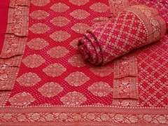 Handloom Light Pink Gujarat | Jaal- patterns of grace Collection | Unstitched Blouse Piece