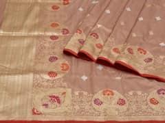 Handloom Brown Banaras | Sona Chandi- the dual gleam Collection | Unstitched Blouse Piece