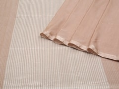 Handloom Light Brown Bengal | Pallu Plays Collection | Unstitched Blouse Piece