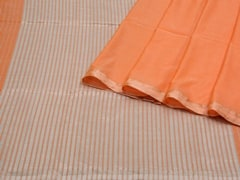 Handloom Orange Bengal | Pallu Plays Collection | Unstitched Blouse Piece