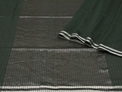 Handloom Dark Green Bengal | Pallu Plays Collection | Unstitched Blouse Piece