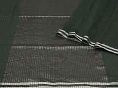 Handloom Dark Green Bengal | Pallu Plays Collection | Unstitched Blouse Piece