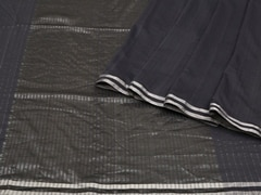 Handloom Dark Grey Bengal | Pallu Plays Collection | Unstitched Blouse Piece