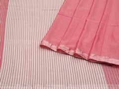 Handloom Pink Bengal | Pallu Plays Collection | Unstitched Blouse Piece