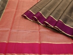 Handloom Black Chanderi | Aaina- Zari Pastels Collection | Unstitched Blouse Piece