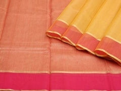 Handloom Yellow Chanderi | Aaina- Zari Pastels Collection | Unstitched Blouse Piece
