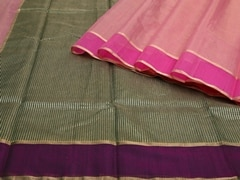 Handloom Pink Chanderi | Aaina- Zari Pastels Collection | Unstitched Blouse Piece