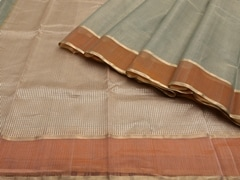 Handloom Light Green Chanderi | Aaina- Zari Pastels Collection | Unstitched Blouse Piece