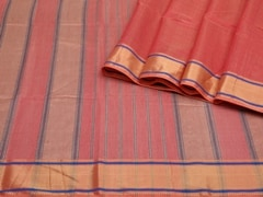 Handloom Dark Pink Maheshwar | Aaina- Zari Pastels Collection | Unstitched Blouse Piece