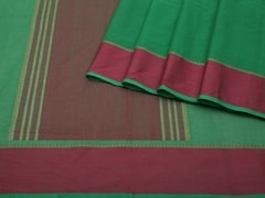 Handloom Green South Cotton | Unstitched Blouse Piece