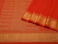 Handloom Red South Cotton | Unstitched Blouse Piece