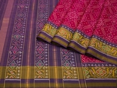 Handloom Pink Rajkot | Ikat Threads Collection | Unstitched Blouse Piece