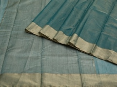 Handloom Green Chanderi | Aaina- Zari Pastels Collection | Unstitched Blouse Piece
