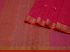 Handloom Pink Bengal | Bengal Jamdani Collection | Unstitched Blouse Piece