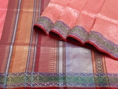 Handloom Light Pink Banaras | Jaal- patterns of grace Collection | Unstitched Blouse Piece