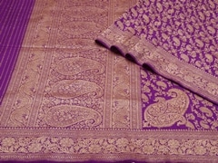 Handloom Violet Banaras | Jaal- patterns of grace Collection | Unstitched Blouse Piece