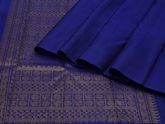 Handloom Blue and Green Pure Zari Kanjeevaram | Karai-presence or absence Collection | Unstitched Blouse Piece