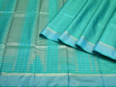 Handloom Light Blue Pure Zari Kanjeevaram | Vaira Oosi- the zari opulence Collection | Unstitched Blouse Piece