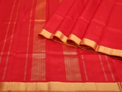 Handloom Red Kumbakonam | Kumbakonam Kolors Collection | Unstitched Blouse Piece