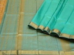 Handloom Light Green Kumbakonam | Kumbakonam Kolors Collection | Unstitched Blouse Piece
