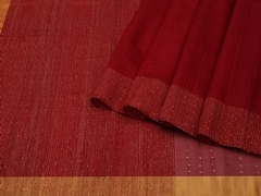 Handloom Dark Red Bengal | Bengal Jamdani Collection | Unstitched Blouse Piece