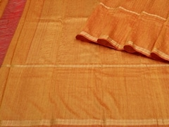 Handloom Orange and Yellow South | Textures of South Collection | Unstitched Blouse Piece