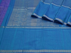 Handloom Blue South | Textures of South Collection | Unstitched Blouse Piece