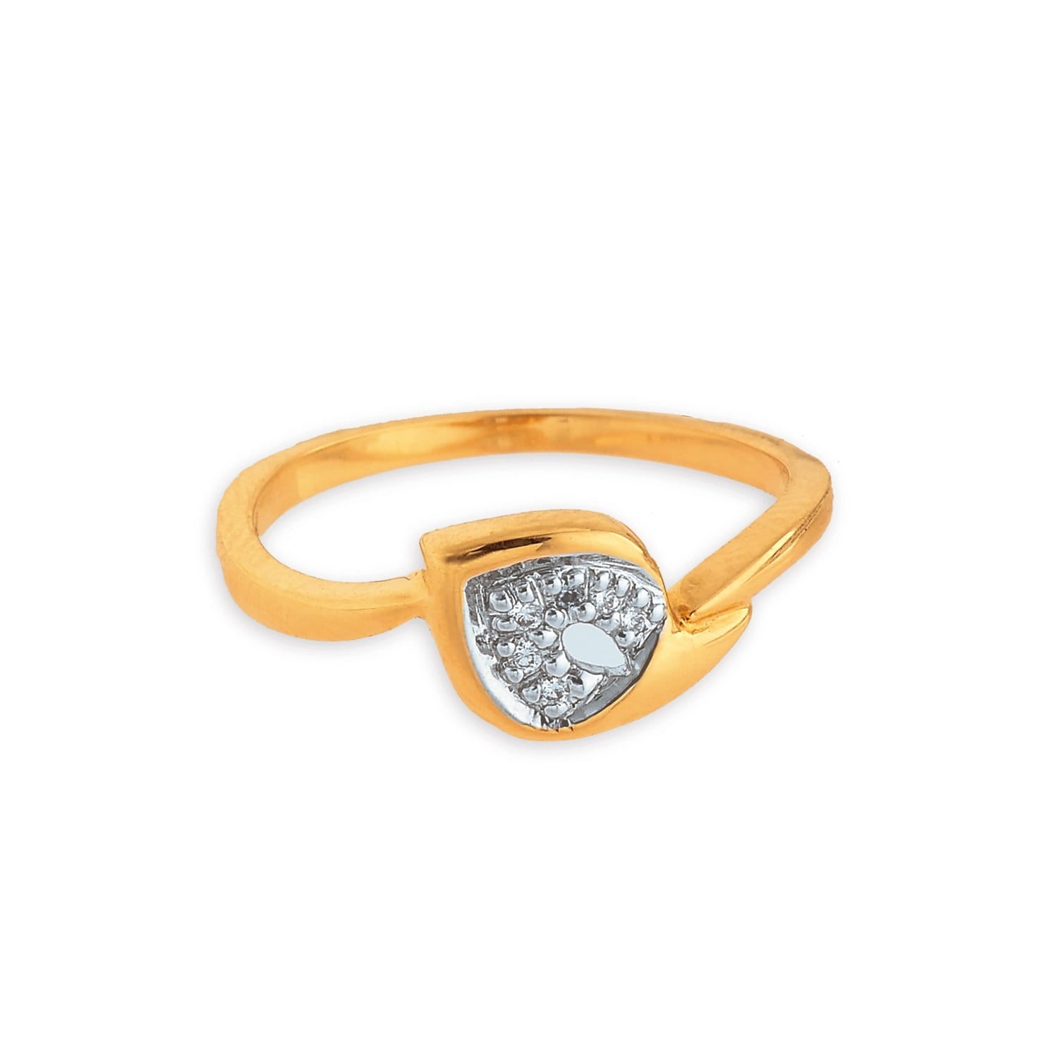 buy shaped yellow gold and tanishq finger