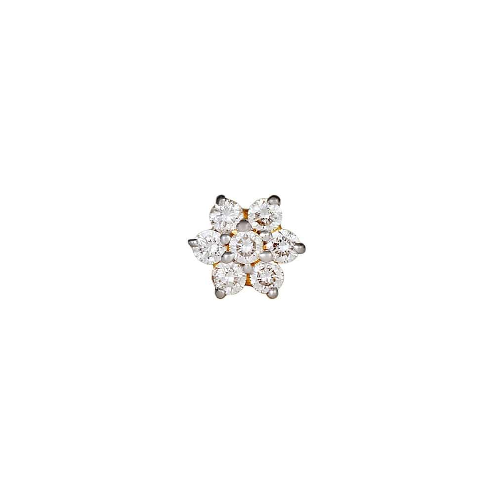 Buy Tanishq 18 KT Gold Nose Pin Diamond Studded ID 500067OXAABA02 ...