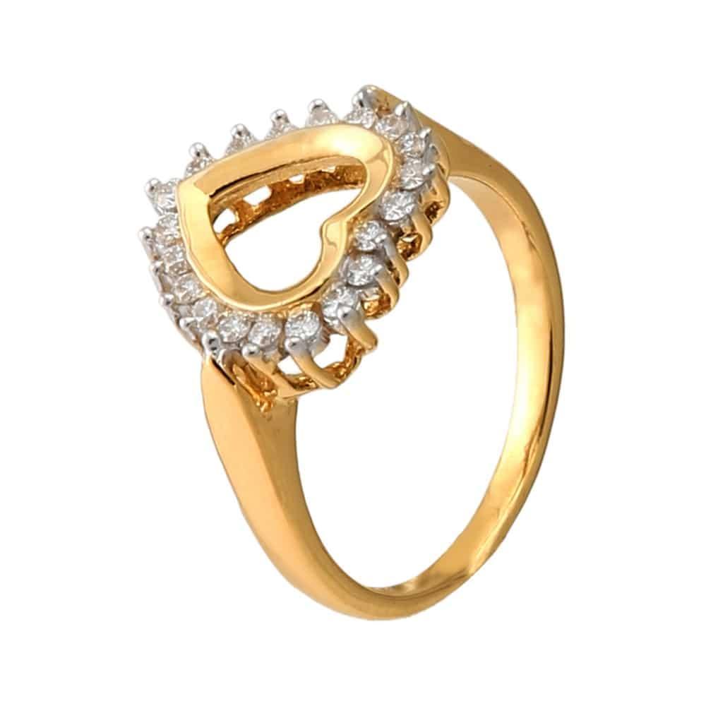 Buy Tanishq 18 KT Gold DIAMOND Finger Ring - 500340FXAKAA02 for ...