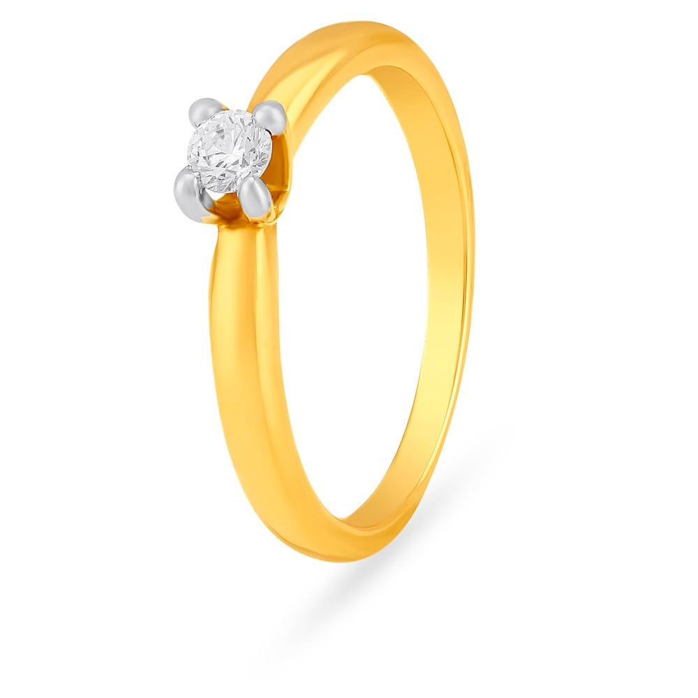 buy tanishq 18 kt gold finger ring diamond studded id